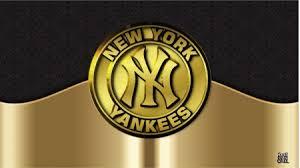 yankees gold and black logo baseball
