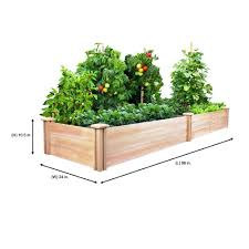 Greenes Fence 2 Ft X 8 Ft X 10 5 In Cedar Raised Garden Bed Rc24966t The Home Depot Vegetable Garden Raised Beds Cedar Raised Garden Beds Raised Garden