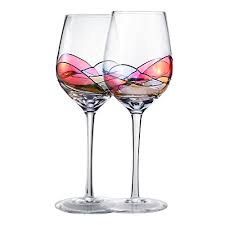 hand painted wine glasses bouquetier