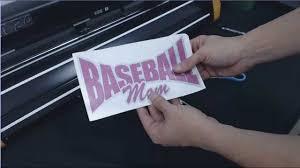 Gcc Expert 24 How To Make A Glitter Baseball Mom Car Window Decal Part 2 2 Youtube