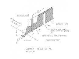 Sediment Fence Detail Free Cad Blocks In Dwg File Format