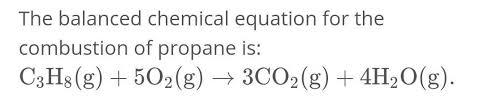 balanced equation of combustion