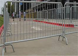 Temporary Pesdetrain Metal Crowd Control Barrier Fence Safety For Outdoor