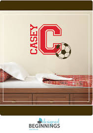Soccer Ball Decal Name Wall Decals Soccer Decor Etsy Personalized Wall Decals Name Wall Decals Boys Room Decor