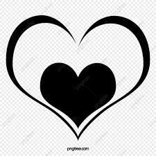 الحب أسود قلوب اثنين حجم Png وملف Psd للتحميل مجانا