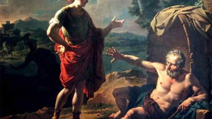 """Resultado de imagem para Diógenes fez a Alexandre"""""""