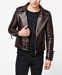 men brown lambskin leather jacket rs