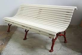 antique garden bench with cast iron