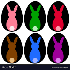 colored bunnies royalty free vector image