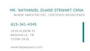 1023412426 NPI Number | NATHANIEL DUANE STEWART CRNA | NASHVILLE, TN | NPI  Registry | Medical Coding Library | www.HIPAASpace.com © 2020