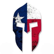 Spartan Helmet Texas Flag Vinyl Sticker Waterproof Decal Sticker 5 Walmart Com Walmart Com