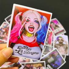 25pcs Harley Quinn Stickers Cool Vinyl Computer Waterproof Water Bottles Skateboard Luggage Decal Graffiti Patches Decal Stickerdoll