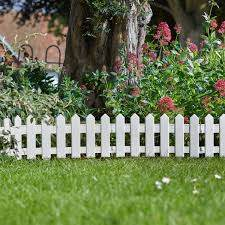 4 X Smart Garden White Picket Fence Path Border Lawn Plant Beds Edging Buyaparcel