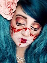 halloween broken doll tutorial makeup