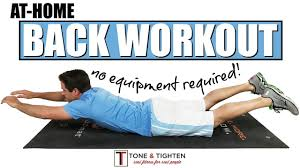 back workout no equipment required