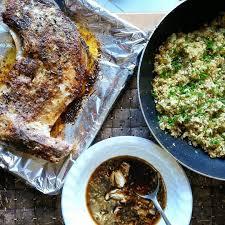 Oven baked tuna panga (jaw) and ...