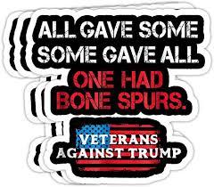 Amazon Com Pinkboar Anti Trump Veterans Draft Dodger Cadet Bone Spurs 4x3 Vinyl Stickers Laptop Decal Water Bottle Sticker Set Of 3 Kitchen Dining