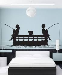 Vinyl Wall Decal Sticker Kids Fishing Off Peer Gfoster175 Vinyl Wall Decals Wall Decal Sticker Decal Wall Art