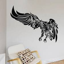 Flying Hunting Eagle Wall Stickers Animal Wall Decals Wall Art Decoration Buy Wall Decal Buy Wall Decals From Joystickers 18 09 Dhgate Com
