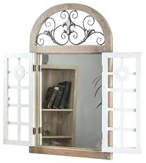 arch mirror window shutter wall vanity