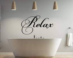 Relax Wall Decal Etsy
