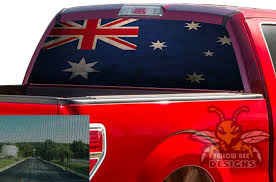 Australia Flag Rear Window Decals Perforated Stickers Ford F150