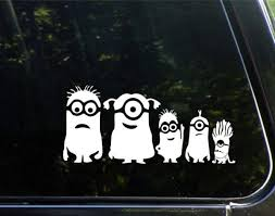 Minion Family Window Decal Sticker A2 Family Car Stickers Family Car Decals Family Stickers