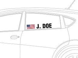 Driver Name Vinyl Decal Trackdecals