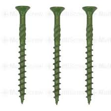 Professional Green Coated Decking Screws Landscape Fencing Exterior Wood Screws Ebay