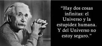 Hay dos cosas infinitas: el universo y la estupidez humana. Y del ...