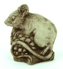 mini mouse garden statue cement figure