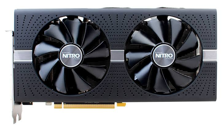 Image result for Sapphire 11265-01-20G Radeon Nitro+ RX 580 8GB GDDR5 Dual HDMI / DVI-D / Dual DP with Backplate (UEFI) PCI-E Graphics Card