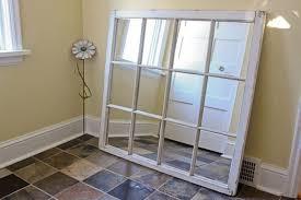 diy window frame into a mirror