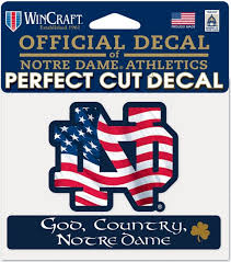 University Of Notre Dame 4 X 5 Decal University Of Notre Dame