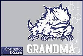 Amazon Com Tcu Horned Frogs Grandma W Frog 4 Vinyl Decal Texas Christian Car Truck Sticker Automotive