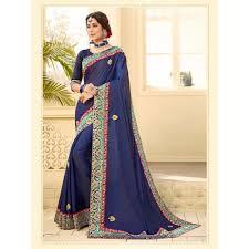 color two tone satin silk saree