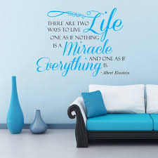 There Are Two Ways To Live Miracle Christian Vinyl Wall Decal