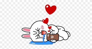 line brown love cony hd png