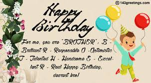 the best birthday wishes for brother greetings