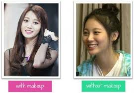k pop idols without makeup