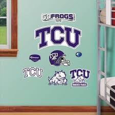 Texas Christian Team Logo Assortment 39 99 Tcu Horned Frogs Sports Wall Decals Sports Wall