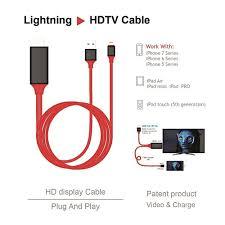 Cáp chuyển đổi từ Lighting qua HDMI TV AV 1080p 8 Pin 2M cho iPhone X 8 7 6  - Gadget Express