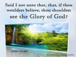 bible verses about god glory of