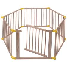 Baby Playpen 6 Panel Foldable Wooden Frame Kids Safety Play Fence In X2f Outdoor Play Yards Baby Toys Amp Activity E Baby Playpen Playpen Baby Play Yard