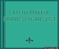 30 catchy makeup brand slogans list