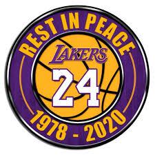 Kobe Bryant 24 La Lakers Memorial Basketball Decal