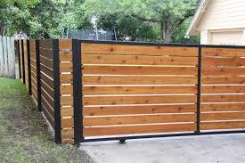 Modern Red Cedar Custom Fence Modern Landscape Austin By Superior Fence Co Of San Antonio