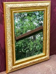 gold framed mirror gold ornate mirror