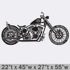Harley Davidson Softail Premium Wall Decal Boss Moto Clothing Llc