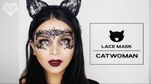 diy lace mask catwoman makeup tutorial